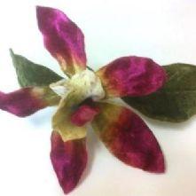Large Velvet Orchid Flower Magenta